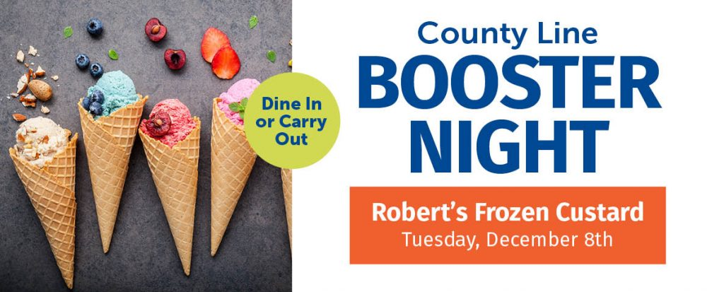 County Line Booster Night @ Robert's Frozen Custard